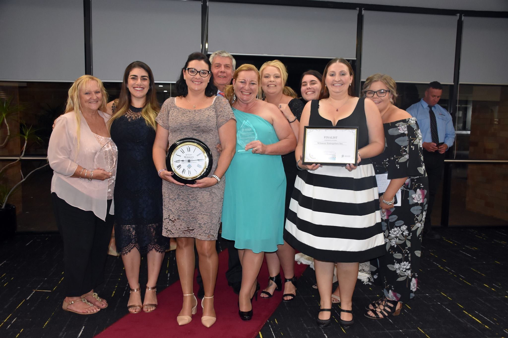Witmore Enterprises is excited to announce we took out some awards in this year's Singleton Outstanding Business Awards. Witmore was the winner of Business Excellence in Social Enterprise, Judge's Award for Employee of the Year - Bev Young and recognised from the Chamber of Commerce for 60 years of Service!!